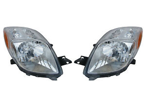 New Pair Of Headlights Fits Toyota Yaris Hatchback 07 08 81130 52611 81170 52601