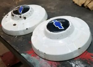 2 1969 1972 Chevy C20 3 4 Ton Truck 12 Dog Dish Hubcaps 69 70 71 72