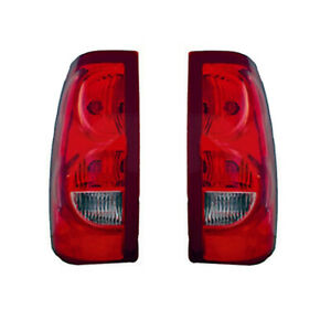 New Pair Of Tail Lights Fit Chevrolet Silverado 1500 Hd 2003 Gm2801161 19169002