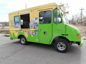 2001 Chevy real Ice Cream Snow Cone Truck W Huge Nelson Cold Plate Freezer