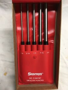 Starrett Drive Pin Punch Set S248pc