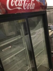 Commercial Beverage Cooler With 2 Sliding Glass Doors
