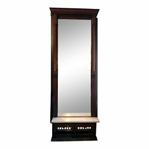 Antique Victorian Eastlake Tall Pier Hall Mirror Will Ship