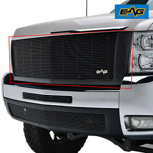 Eag Fits 07 10 Chevy Silverado 2500 3500 Black Aluninum Billet Packaged Grille