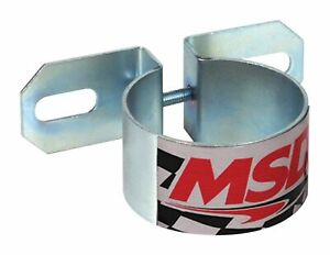 Msd Ignition Universal Chrome Coil Mounting Bracket Canister Coil Mount 8213