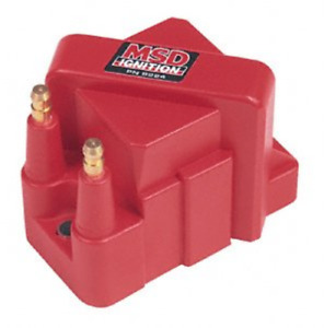 Msd Ignition Coil Dis Performance Replacement E core Square Epoxy Red 40000v Gm