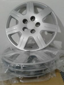 4 Pack Honda Civic 06 11 16 Bold On Hubcaps Silver Wheel Covers 7 Spoke Rim New