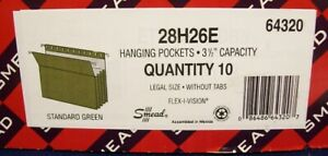 Office Supplies Smead Legal Size Hanging Pockets File Folders 3 5 Capacity 10ct
