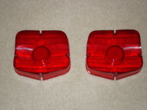 1963 Plymouth Tail Lights Lenses Excellent