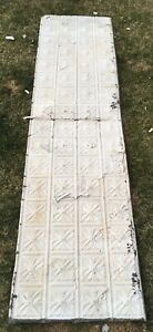 Tin Ceiling Tile Panel Antique Architectural Salvage 1890 S Co Saloon 24x96