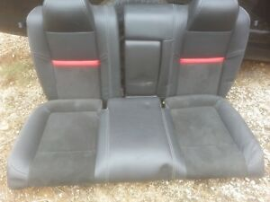 09 Dodge Challenger Srt 8 Black red Leather Rear Seat