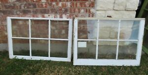 Vintage Sash Antique Wood Window Picture Frame 25 X 35 75 Set 1