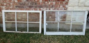 Vintage Sash Antique Wood Window Picture Frame 25 X 42 Set 6