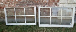 Vintage Sash Antique Wood Window Picture Frame 25 X 42 Set 7