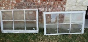 Vintage Sash Antique Wood Window Picture Frame 25 X 42 Set 8