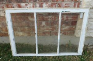 Vintage Sash Antique Wood Window Picture Frame 23 75 X 36