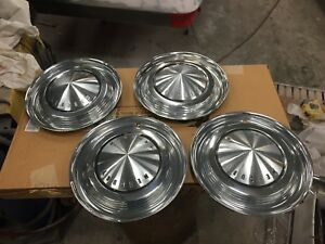 1963 Mercury Marauder Monterey 14 Hubcaps Set Of 4 1961 1962 1964
