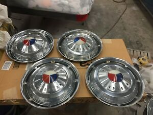 1963 Mercury S55 Marauder Monterey 14 Hubcaps Set Of 4 1961 1962 1964