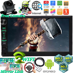 For Chevrolet Gmc Truck 2din Android Wifi Gps Fm Car Stereo Radio Aux Led Camera