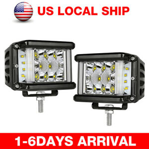 4inch 320w Led Work Light Bar Flood Combo Pods Driving Off road Tractor 4wd 12v