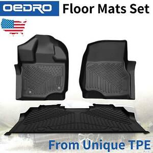 All weather Floor Mats Liners Tpe For 2015 2021 Ford F150 F 150 Supercrew Cab