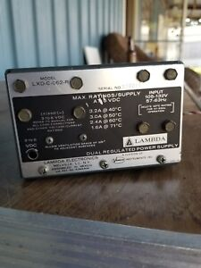 Lambda Model Lxd c 062r Dual Regulated Power Supply
