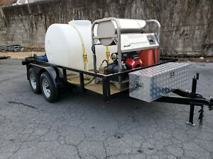 Hot Water Pressure Washer Trailer Mounted 7gpm 4000psi honda Gx690