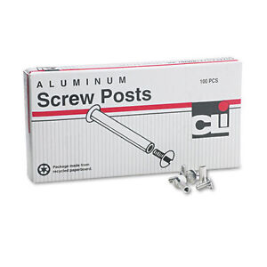 100 Pcs Post Binder Screws 1 2 Long Aluminum Screw Posts Made In Usa