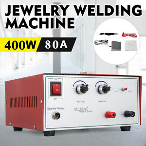 80a 400w Spot Welder Jewelry Welding Machine 220v Tungsten Needle Titan Forceps