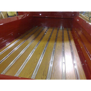 1955 1957 Chevy Gmc Pickup Shortbed Wood And Polished Ss Strips