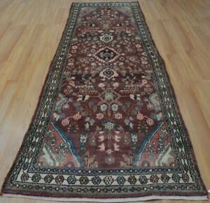 3 5x10 Genuine Semi Antique Persian Tribal Hamadan Hand Knotted Wool Runner Rug