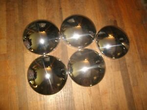 Nos Set Of 5 Namsco Baby Moon Hubcaps 55 64 Chrysler Products