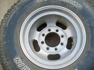4 Aluminum Slot Wheels 16 5 X 9 75 8 X 6 5 Bolt Pattern Chevy Ford Dodge 4x4