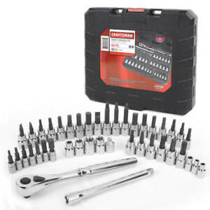 Craftsman 42 piece 1 4 3 8 Drive Bit Torx Bit Socket Wrench Set 99941