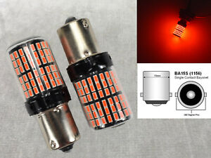 Brake Stop Tail Light 1156 Ba15s 7506 P21w 1141 3497 Led Projector Red W1 Jae