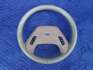 84 88 Ford Bronco Ii 2 Ranger Truck Leather Wrap Steering Wheel Oem Tan Cruise