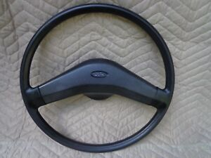 83 85 Ford Ranger Bronco Ii 2 Truck Steering Wheel Oem Black 2 spoke 84