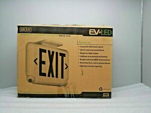 New Hubbell Evcurwd4i Led Exit Emergency Light