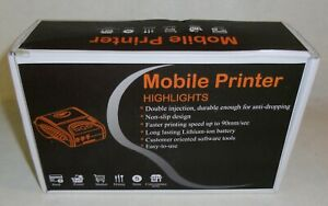 New Munbyn Portable Mobile 58mm Bluetooth Thermal Mini Printer Ios Android Black
