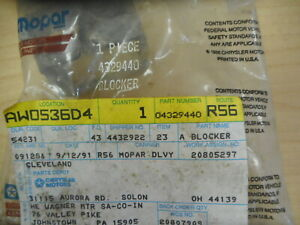Nos Mopar Manual Transmission Blocker 84 86 4 Speed P N 4329440