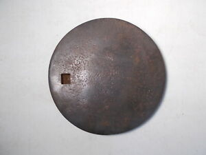 Antique Cast Iron Wood Stove Cover Lid Marked Atlantic On Back
