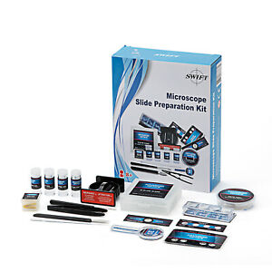 Swift Kids Microscope Slide 66 Preparation Kit Set Science With Microtome Slides