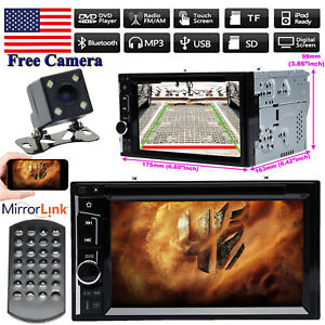 For 2005 2006 Nissan Altima 2din Car Stereo Dvd Radio Player Mirrors Gps