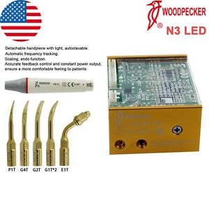 Us Woodpecker Dental Ultrasonic Piezo Built In Scaler Endo Uds n3 Led Handpiece