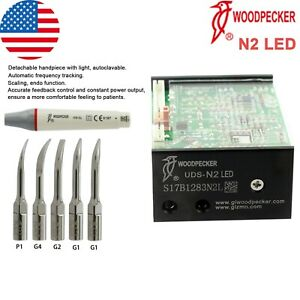 Woodpecker Dental Ultrasonic Piezo Built In Scaler Uds n2 Led Handpiece Tips Kit