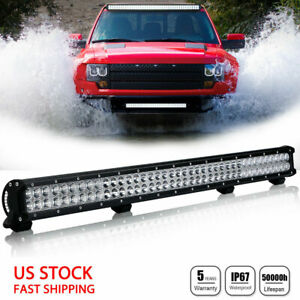 36inch Led Light Bar Spot Flood Combo Beam Work Driving Suv 4wd Vs 34