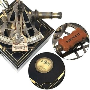 Nautical J Scott London 1753 Brass Sextant Navigation Gps Sailors Marine Device
