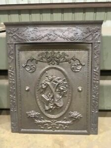Vintage Cast Iron Fireplace Surround With Cast Iron Cover You Pick Finish