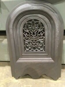 Antique Cast Iron Fireplace Cover Arched With Filigree Design Will Custom Finish