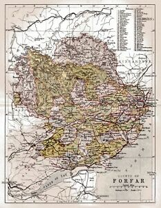Map Of The County Of Forfar Scotland